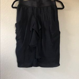 BCBG MaxAzria Black silk skirt